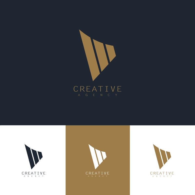 创意矢量现代条纹金融标志设计