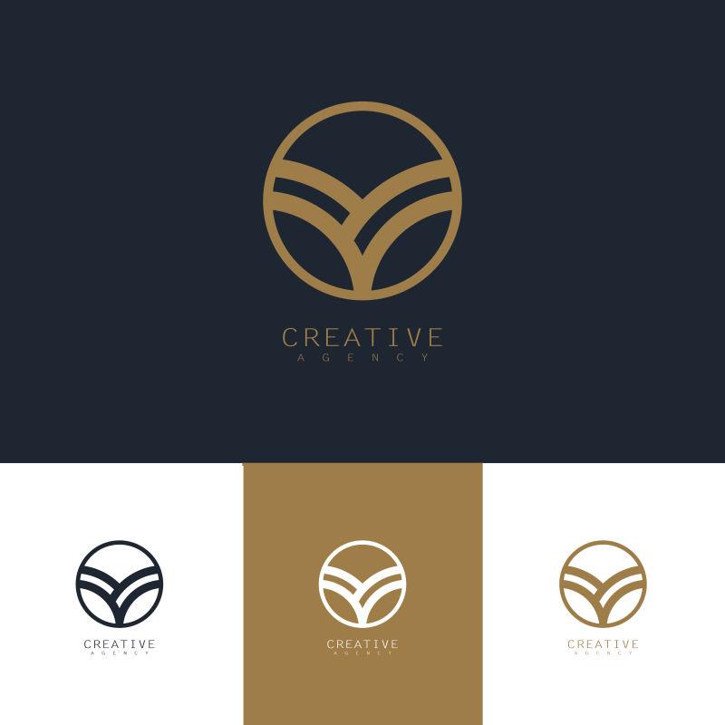 创意矢量现代抽象种植主题的标志设计