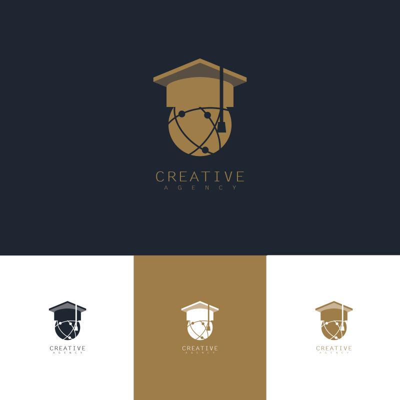 抽象矢量现代教育主题标志设计