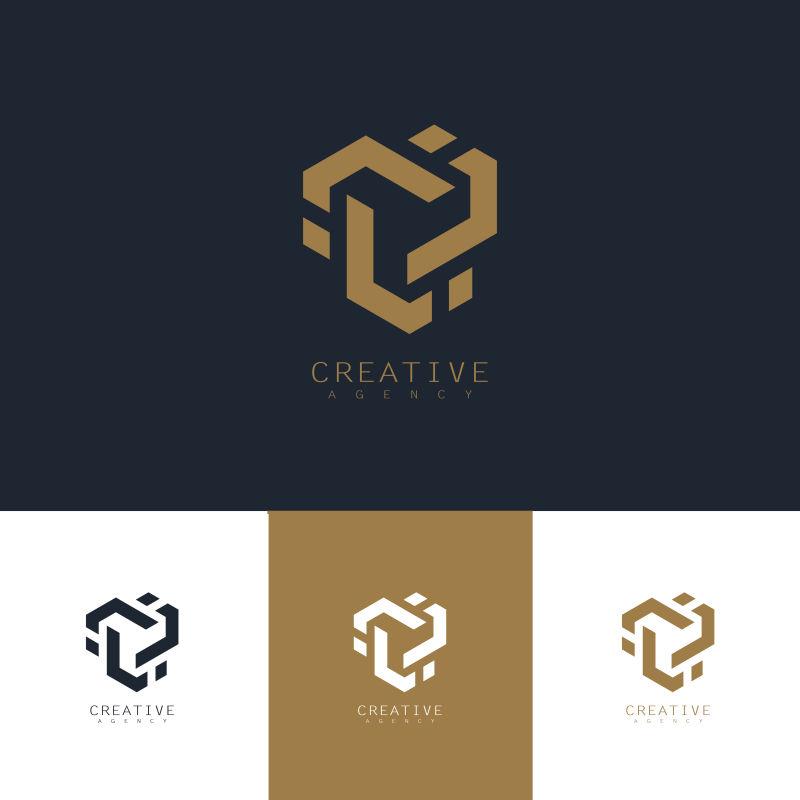 创意矢量几何科技标志设计