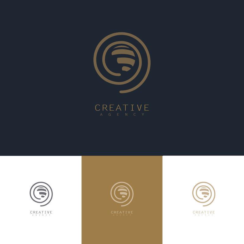 创意矢量现代圆形标志设计