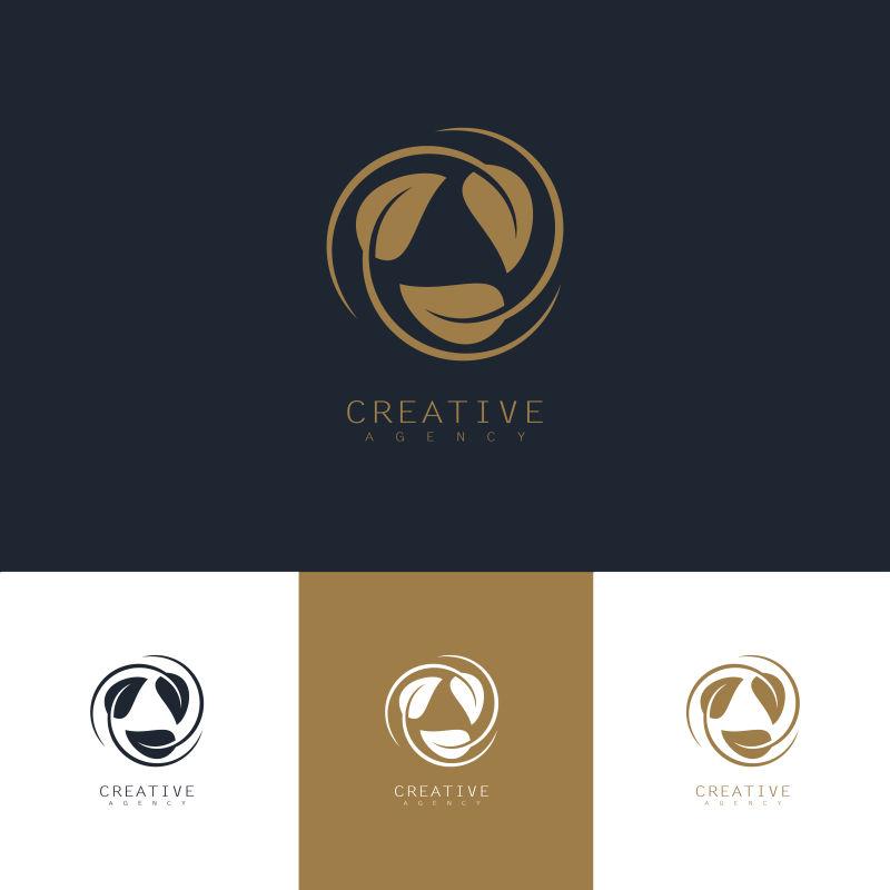 创意矢量循环叶子标志设计