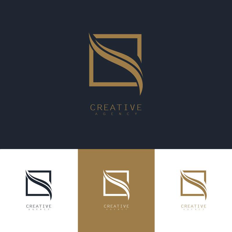 创意矢量现代曲线标志设计