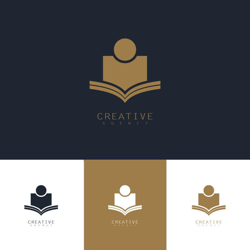 创意矢量学生主题标志设计