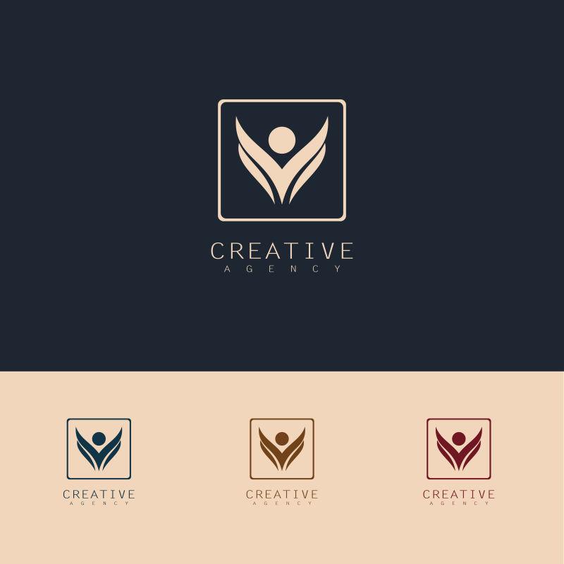 创意矢量现代健康人物标志设计