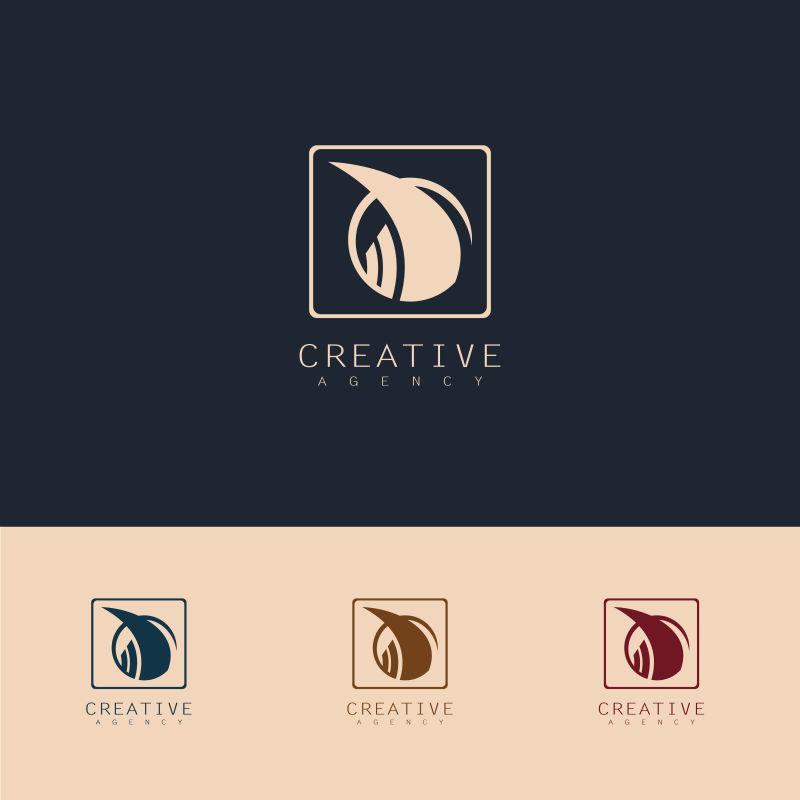 创意矢量现代金融商业标志设计
