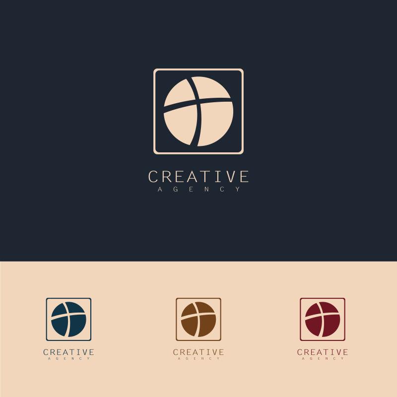 抽象矢量现代圆形技术标志设计