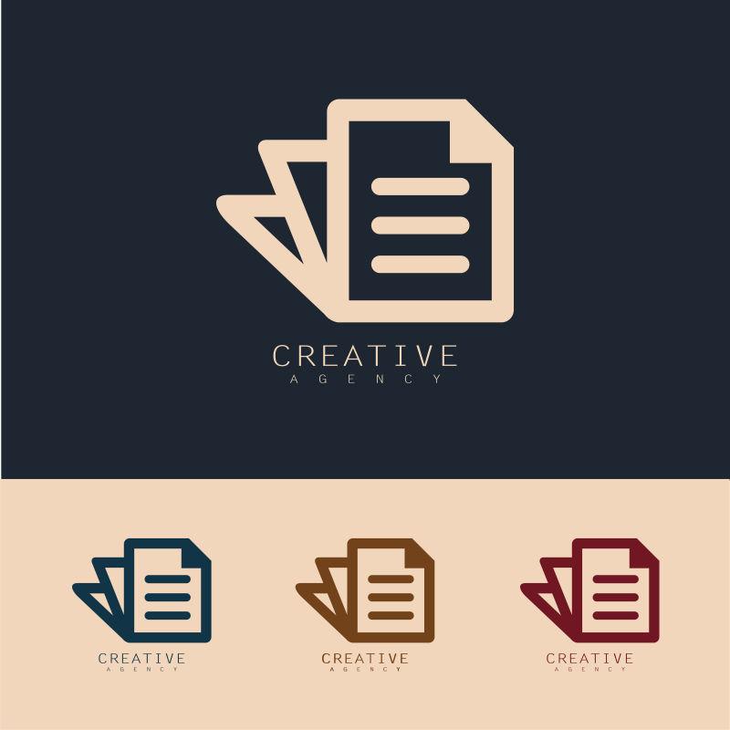 抽象矢量文档元素标志设计
