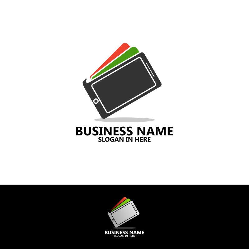 钱包手机标志模板设计