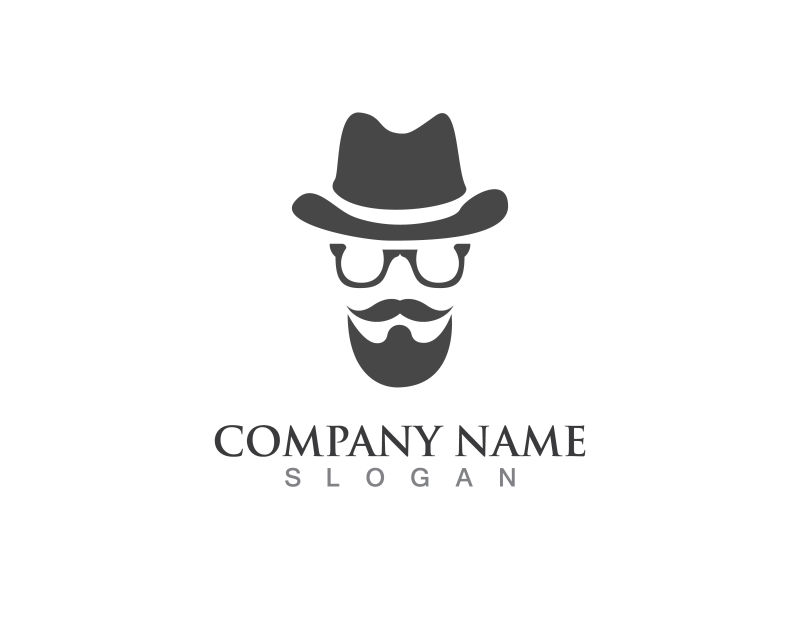 创意矢量带帽男人标志设计