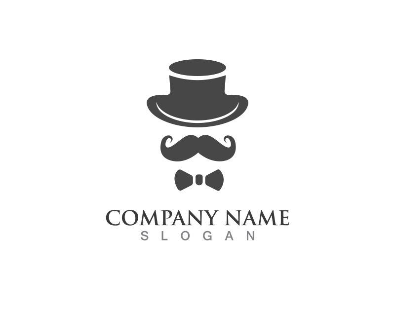 创意矢量现代带帽绅士标志设计