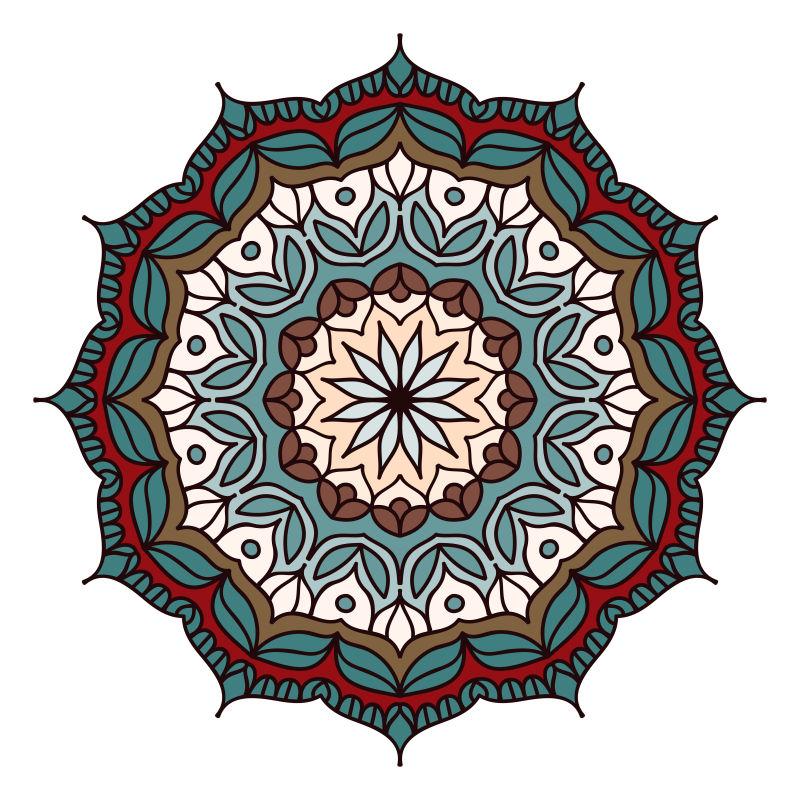 创意矢量现代花卉装饰图案设计