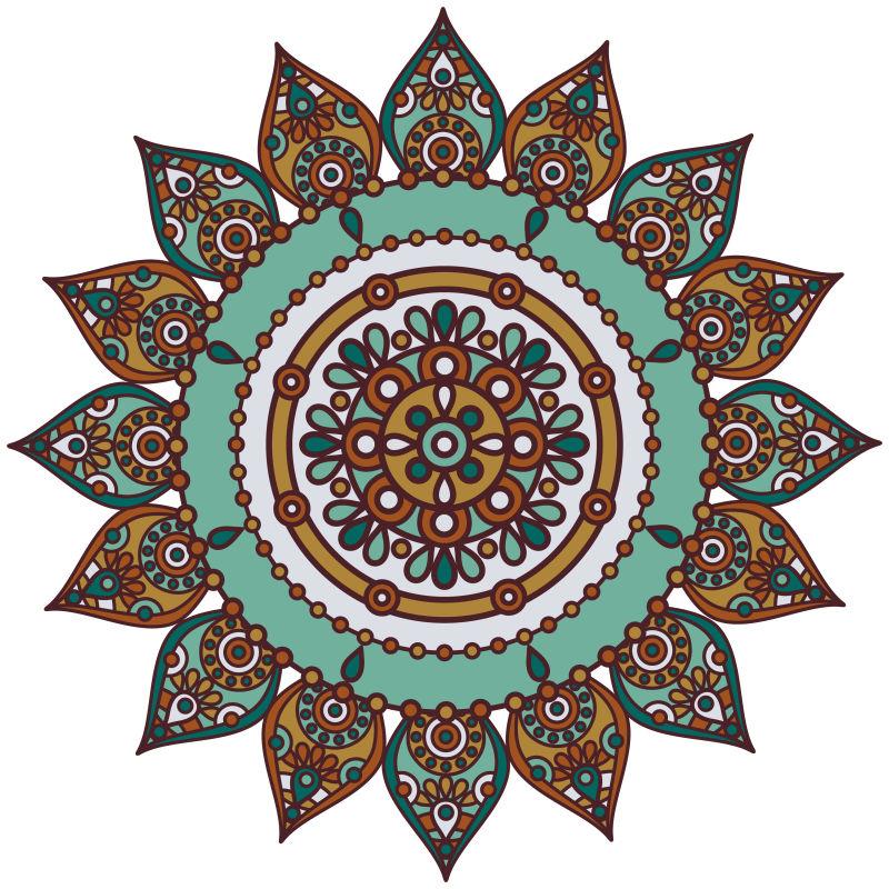 创意矢量现代装饰风格的花卉图案设计