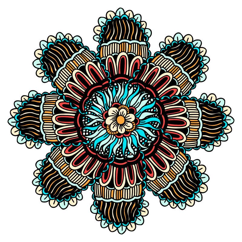 创意矢量现代民族风格的装饰花纹图案