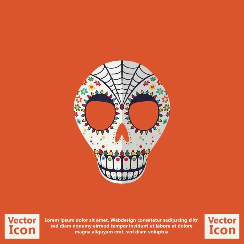抽象矢量现代墨西哥部落面具