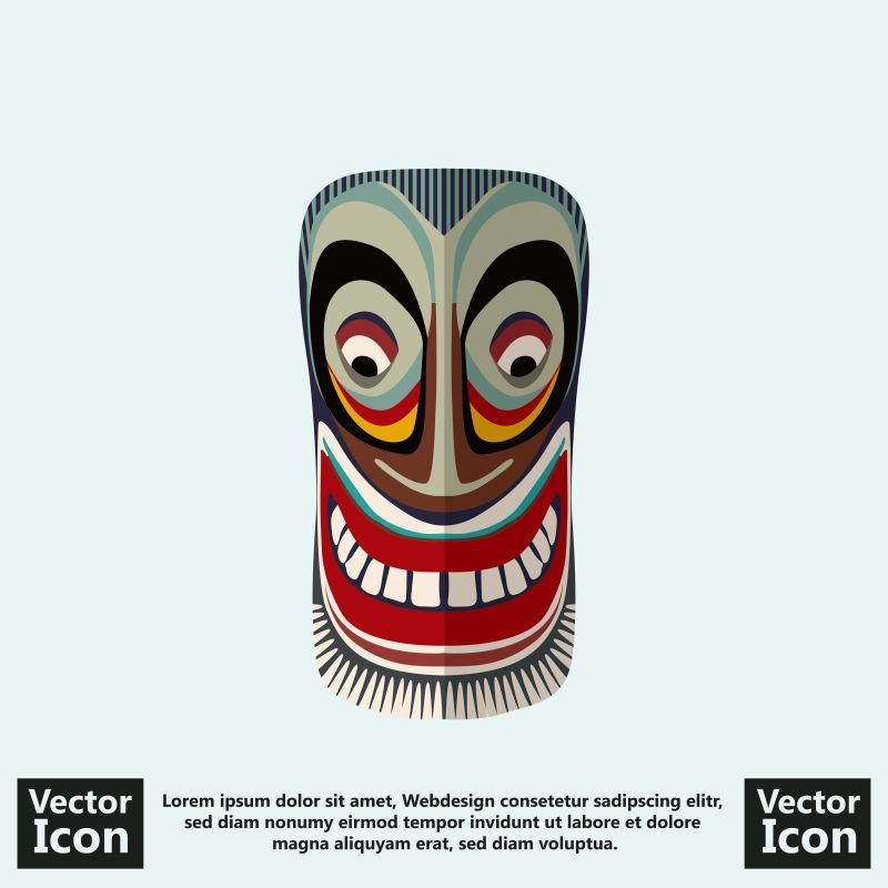 抽象矢量现代卡通装饰风格的面具设计