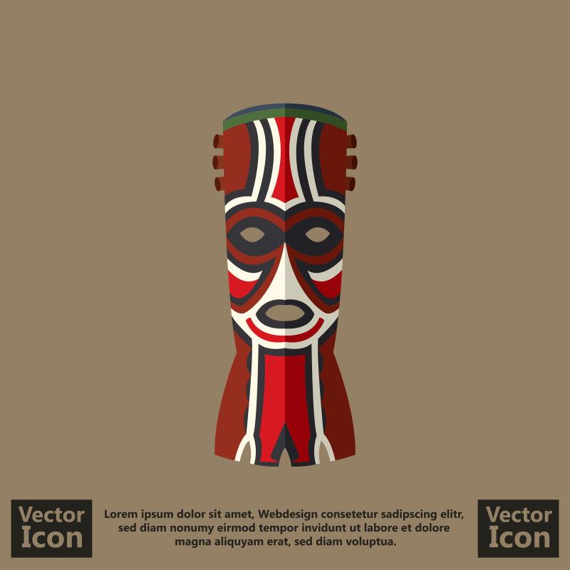 抽象矢量现代民族风格部落面具设计