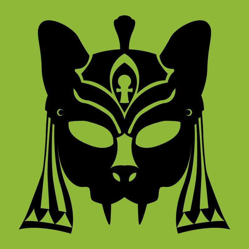创意矢量动物元素的部落面具设计