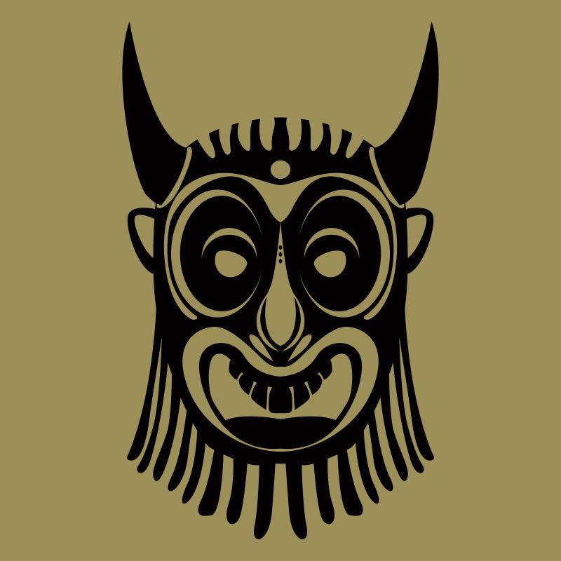 创意矢量现代部落风格的面具设计
