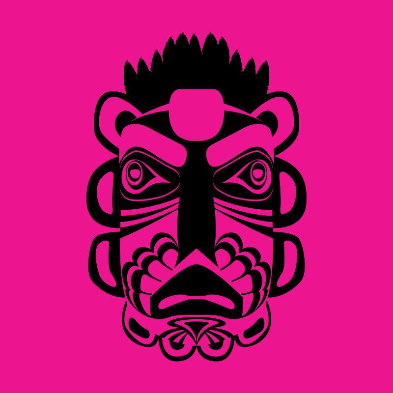 抽象矢量部落面具创意设计