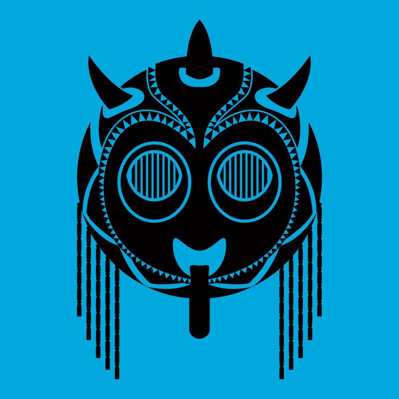 矢量民族部落风格的时尚面具
