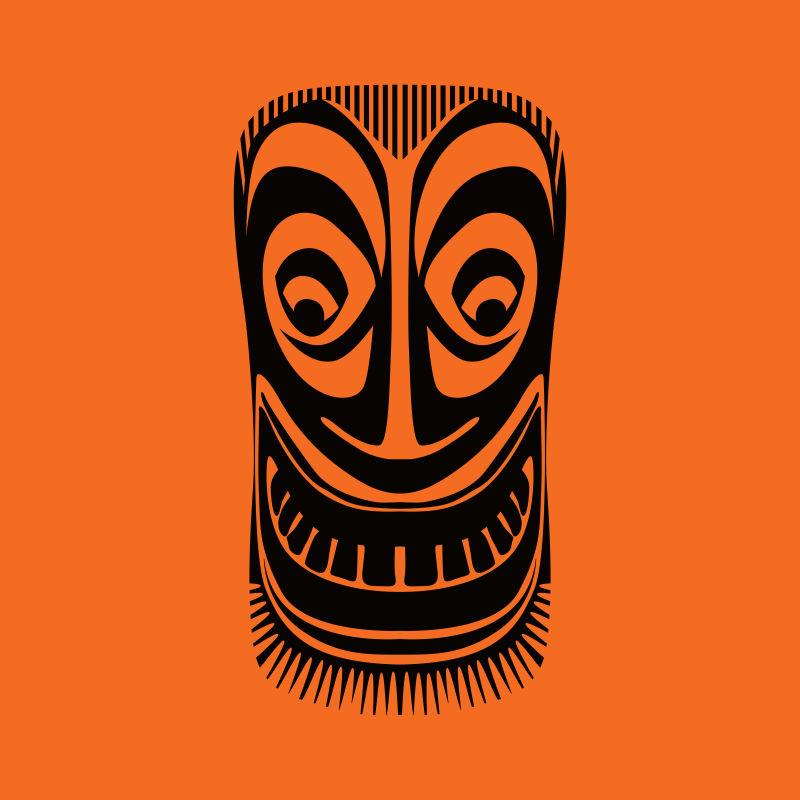创意矢量现代艺术部落面具设计