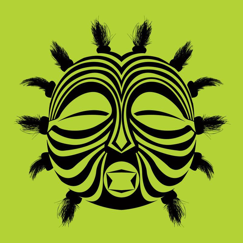 矢量可爱的民族面具设计