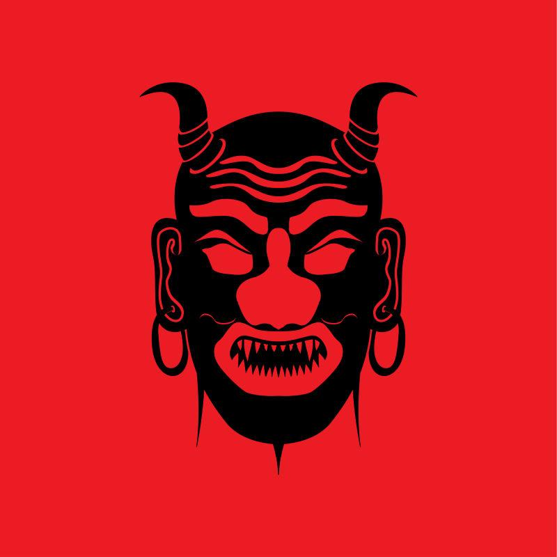 矢量现代民族部落风格的面具设计