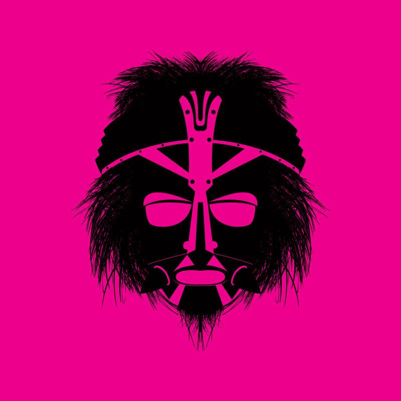 抽象矢量民族风格的创意部落面具设计