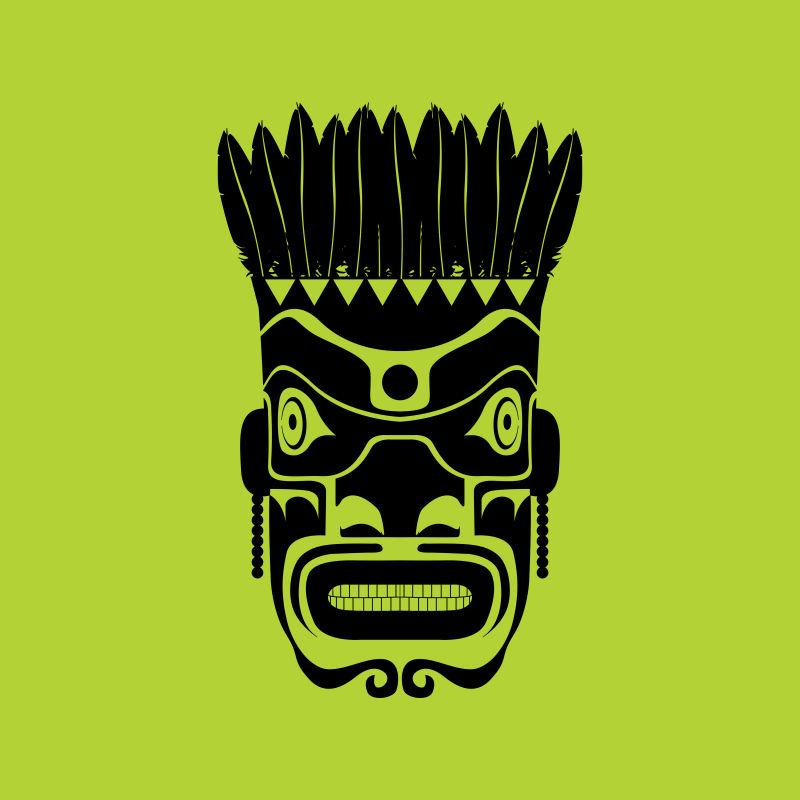 创意矢量现代部落风格的时尚面具设计