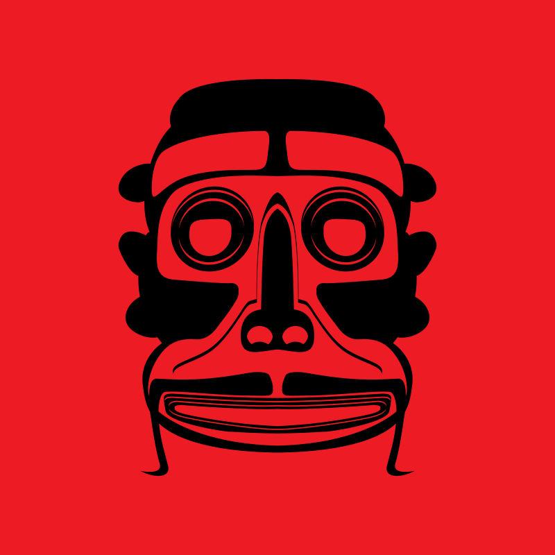 矢量现代传统部落面具设计