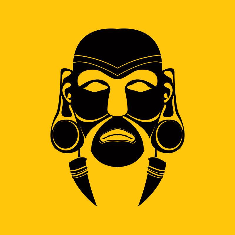 创意矢量民族部落主题的平面面具设计