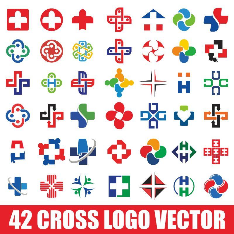 交叉标志设置-标志矢量