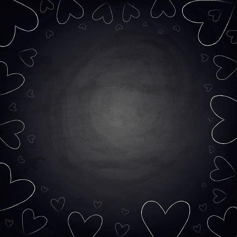 黑板黑板上的手心