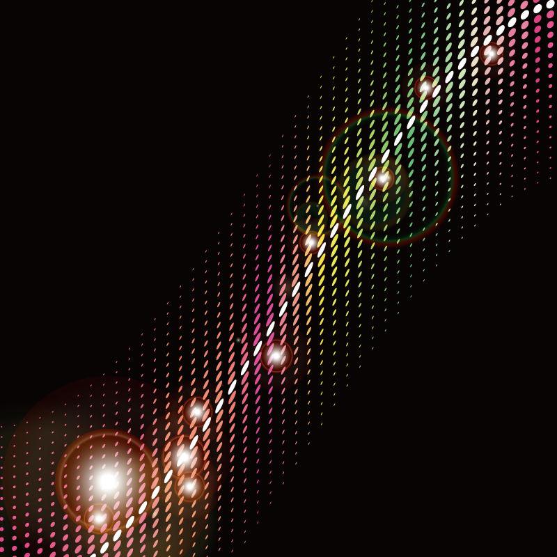 发光粒子的三维发光波-HUD设计元素-技术数字飞溅概念