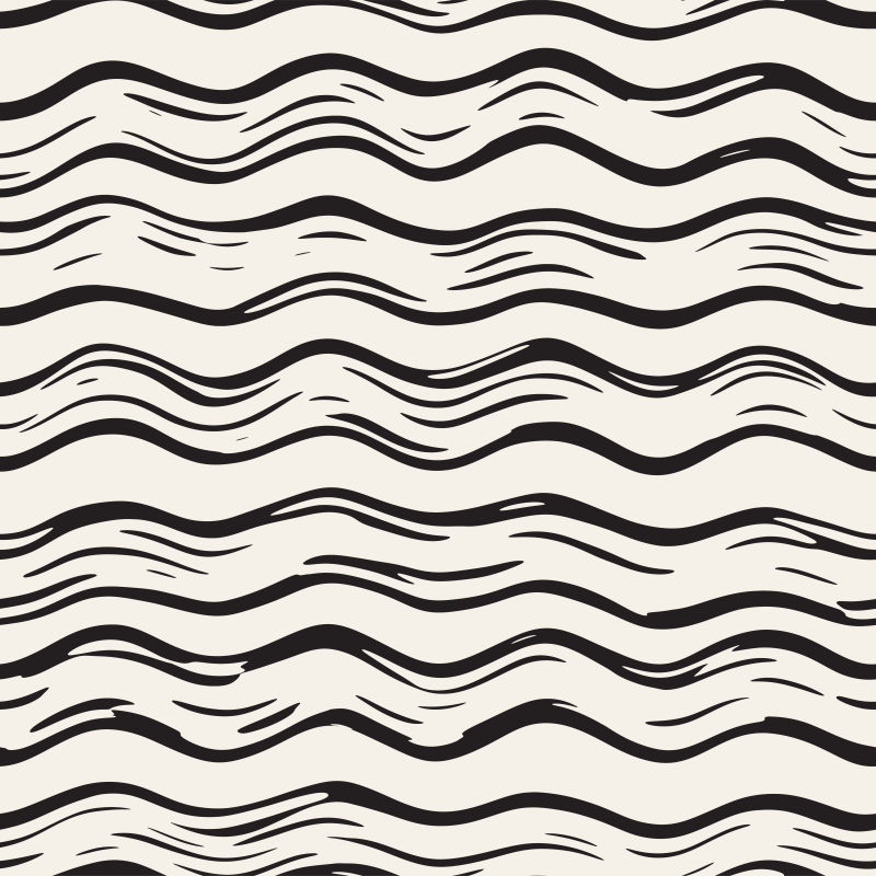 创意矢量波浪形涂鸦背景设计