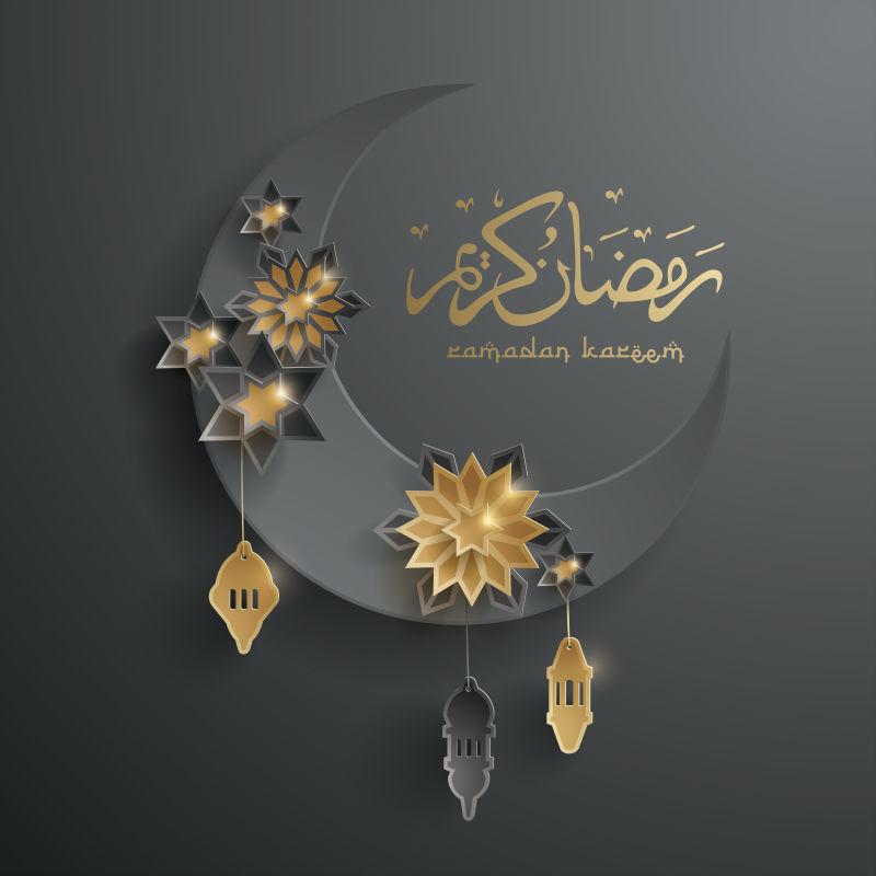 抽象矢量现代伊斯兰斋月主题背景设计