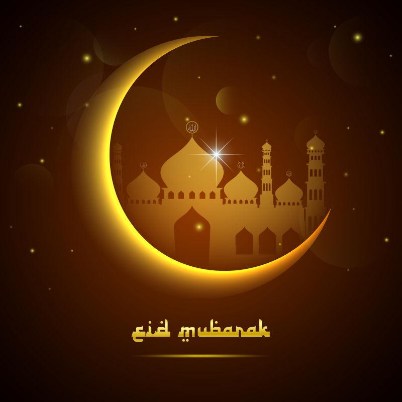 抽象矢量现代伊斯兰斋月主题的背景设计