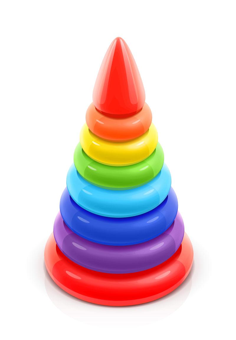 抽象矢量金字塔玩具设计插图