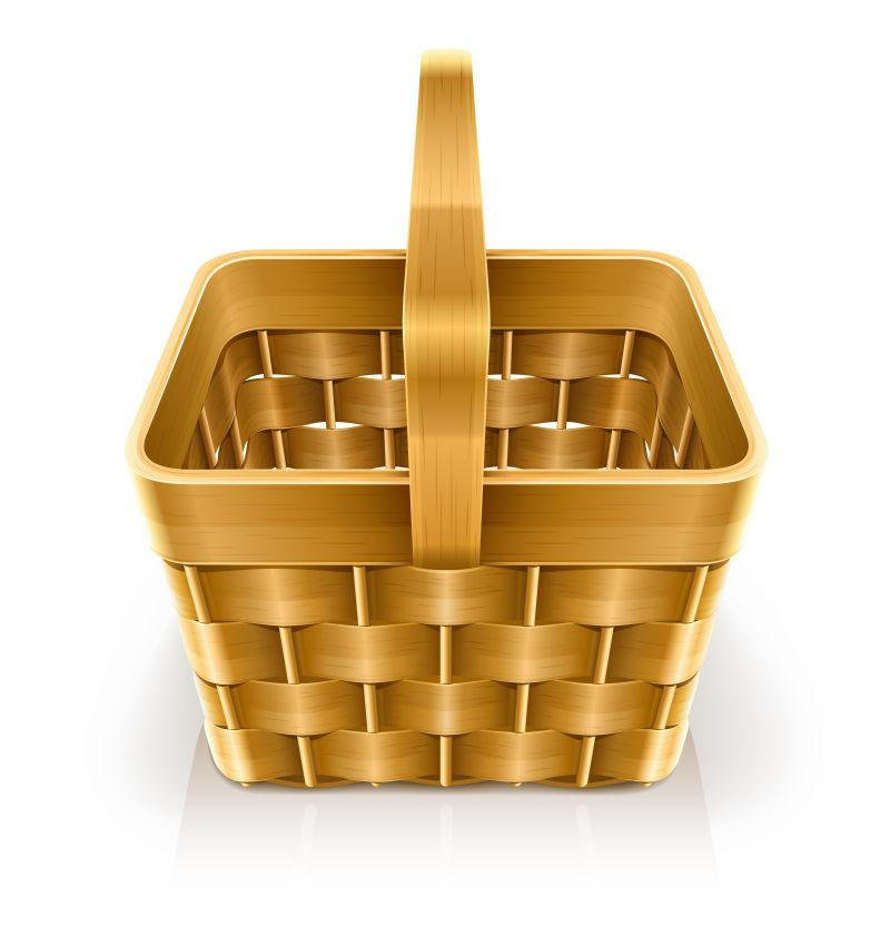 抽象矢量编织木篮设计