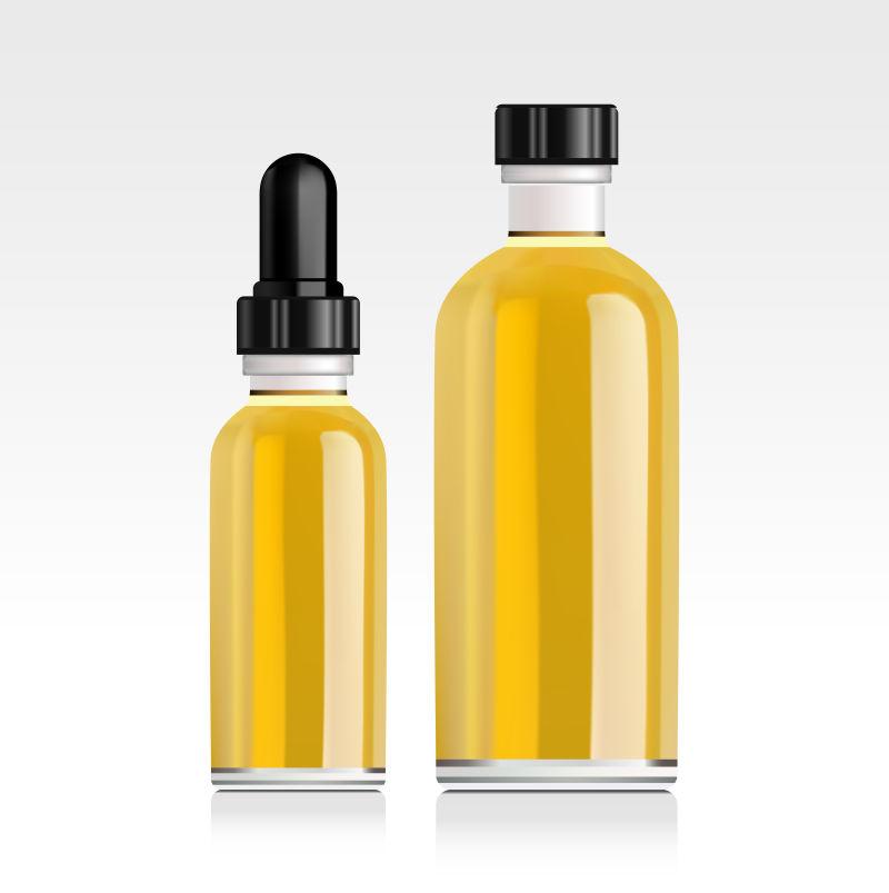 创意矢量现代精油瓶设计插图