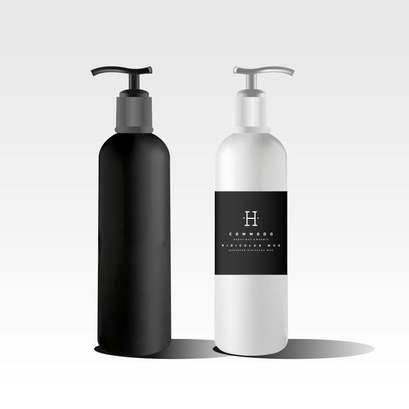 创意矢量现代精油瓶包装设计