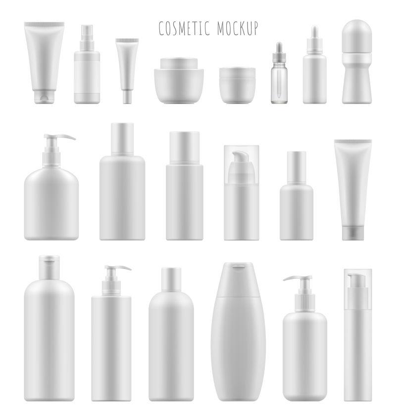矢量创意现代白色包装瓶设计