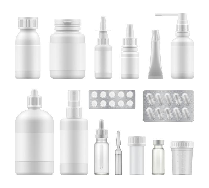 创意矢量现代白色包装瓶设计