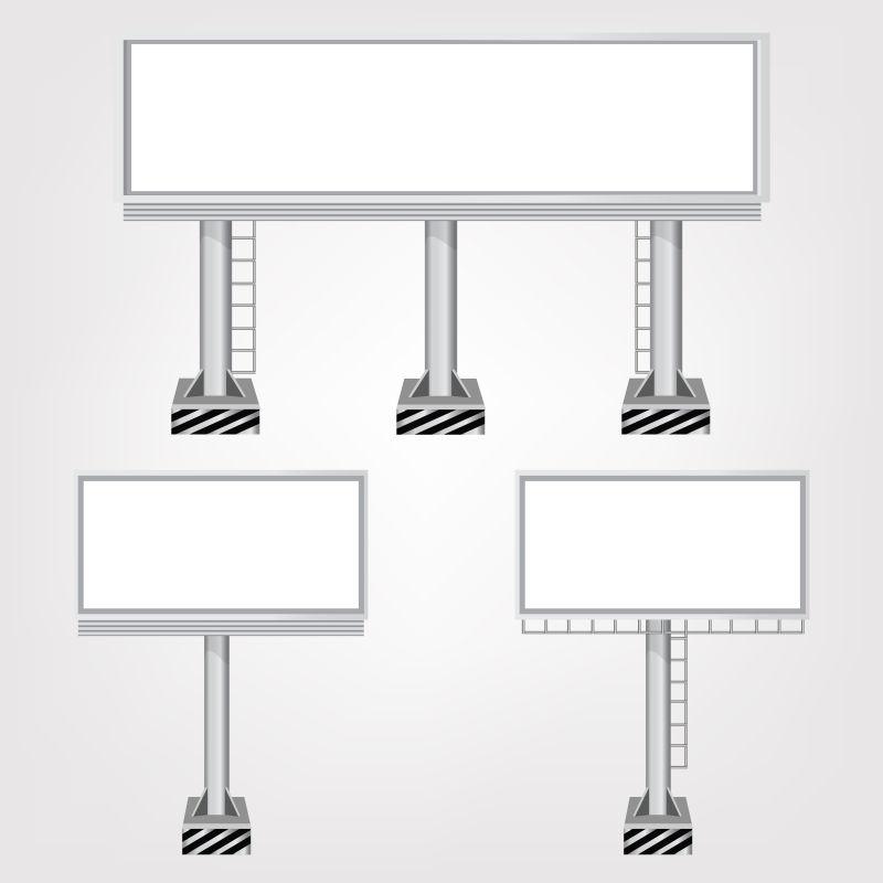 抽象矢量矩形广告牌设计