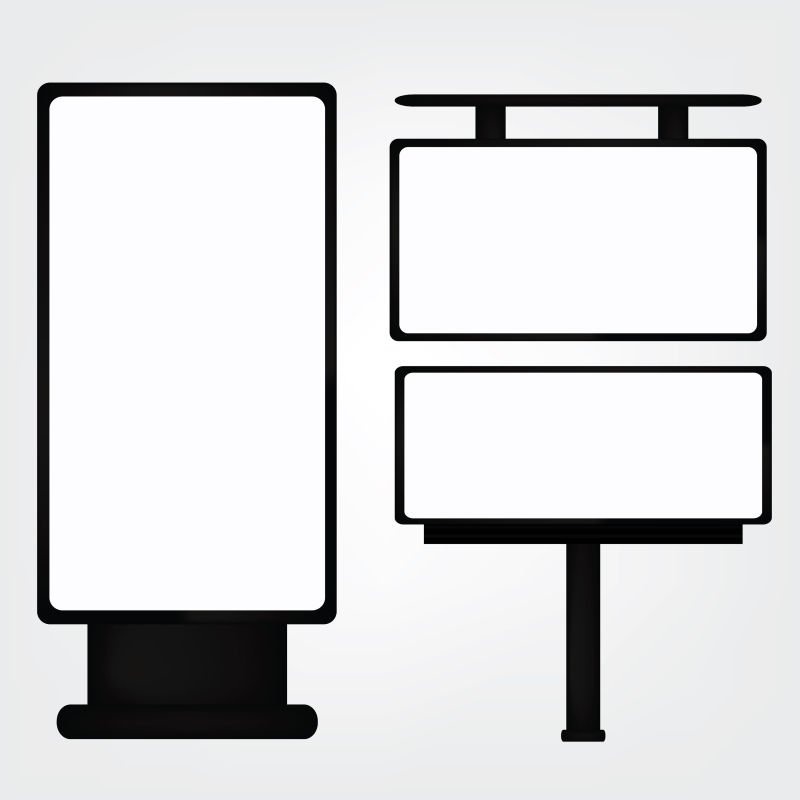 创意矢量现代方形广告牌平面设计