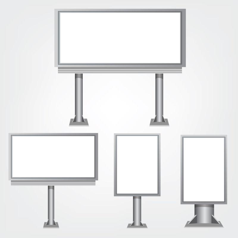 抽象矢量现代方形时尚广告牌设计