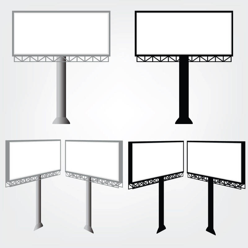 抽象矢量现代空白广告牌平面设计