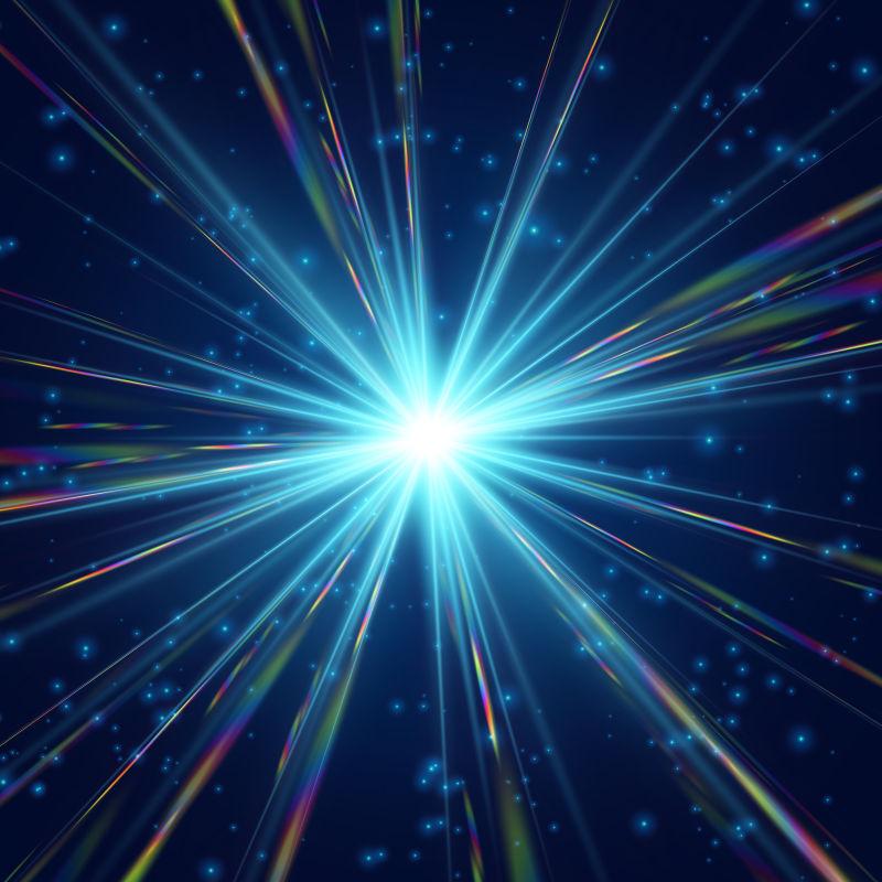 抽象矢量宇宙辐射星云设计插图