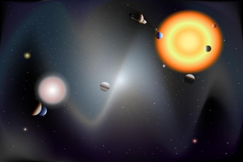 创意矢量宇宙行星插图设计